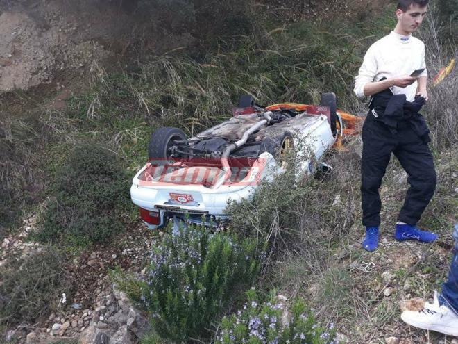 Σοκαριστικό ατύχημα στο 40ο Ράλι Αχαΐας! [photo]