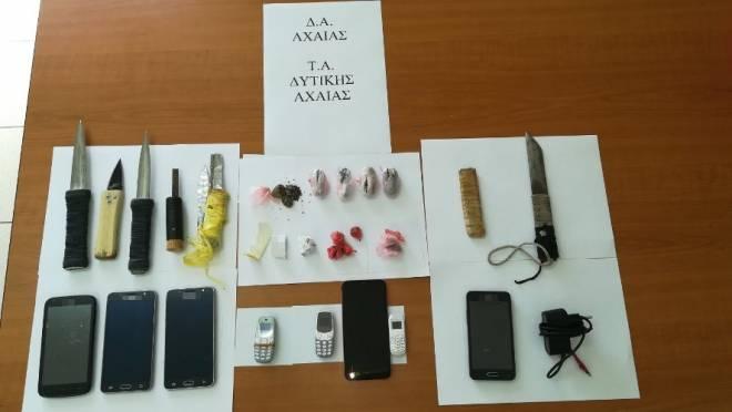 Αχαΐα: Έφοδος στις Φυλακές Αγίου Στεφάνου - Μαχαίρια, ναρκωτικά και κινητά τηλέφωνα βρέθηκαν στα κελιά -Επτά συλλήψεις (Photos)