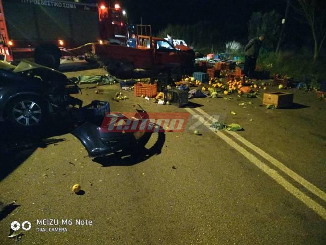 """Δυτ. Ελλάδα: Τρομακτικό τροχαίο τριών οχημάτων στην """"111"""" , τις Φαρρές Αχαΐας, με 4 τραυματίες! (Photos)"""