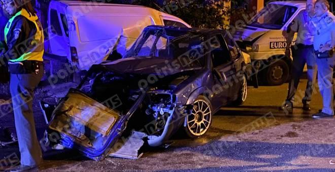 Πύργος: Σοβαρό τροχαίο τα ξημερώματα στην οδό Ρήγα Φεραίου- Η Πυροσβεστική απεγκλώβισε δύο άτομα- Μια ελαφρά τραυματίας