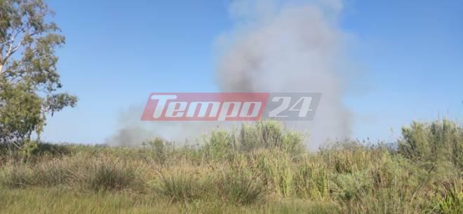 Φωτιά στην περιοχή της Καλόγριας - Ισχυρή δύναμη της Πυροσβεστικής από Ηλεία και Αχαία στο σημείο- Ισχυροί άνεμοι πνέουν στην περιοχή