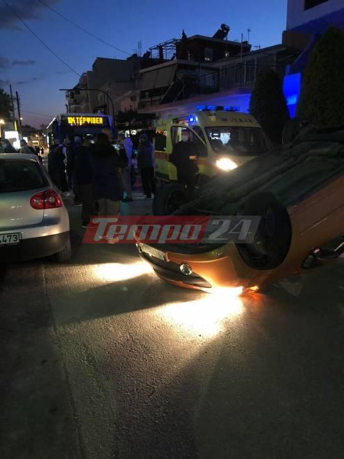 Πάτρα: Ανατροπή αυτοκινήτου στην Αγυιά - Επέβαιναν μητέρα και παιδί - Ένας τραυματισμός