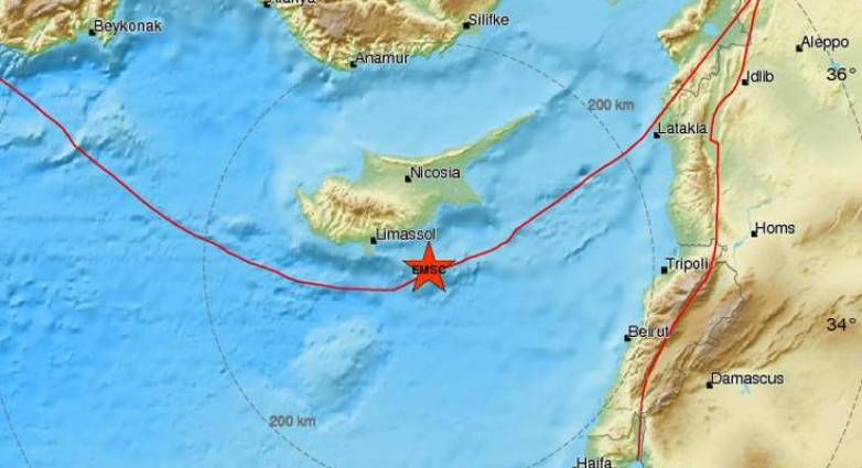 Seismos Twra Sthn Kypro Tempo24 News