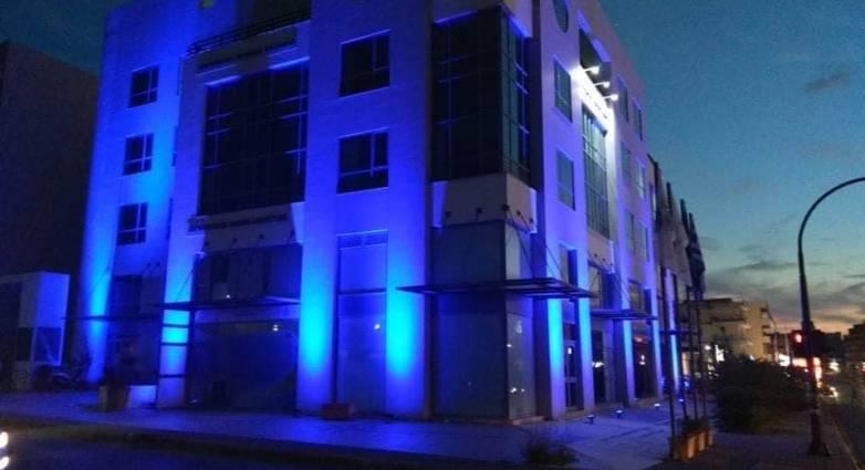 """""""Στα μπλε"""" τα κτίρια της Περιφέρεια Δυτικής Ελλάδας σε Πάτρα, Πύργο, Μεσσολόγγι για την Παγκόσμια Ημέρα Διαβήτη (photos)"""